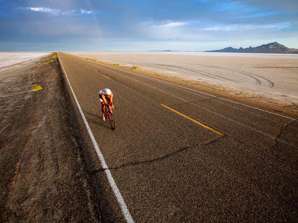 Rob Lea nelle Salt Flats dello Utah