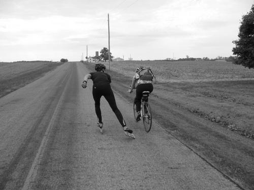 Bici e rollerblade