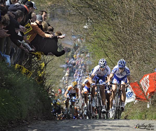 Pozzato e Boonen al Giro delle Fiandre 2012