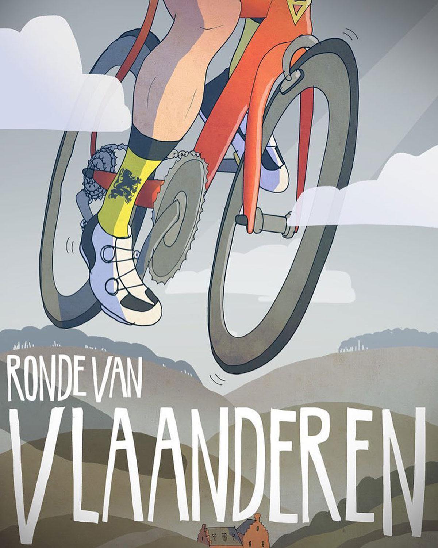 Poster del Giro delle Fiandre