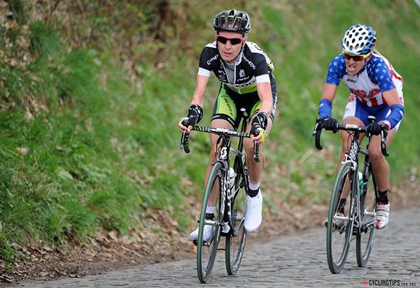 Juduth Arndt e Kirstin Armstrong al Giro delle Fiandre donne 2012