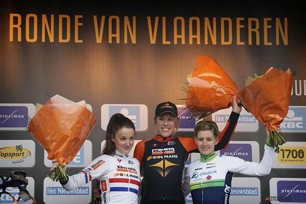 Il podio al Ronde van Vlaanderen voor Vrouwen 2014