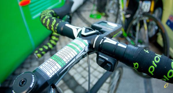 Manubrio con le salite al Giro delle Fiandre