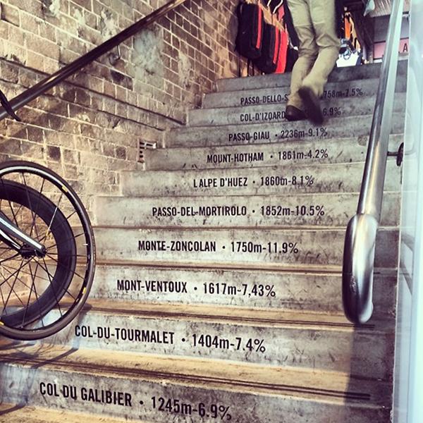 La scala delle scalate in bici