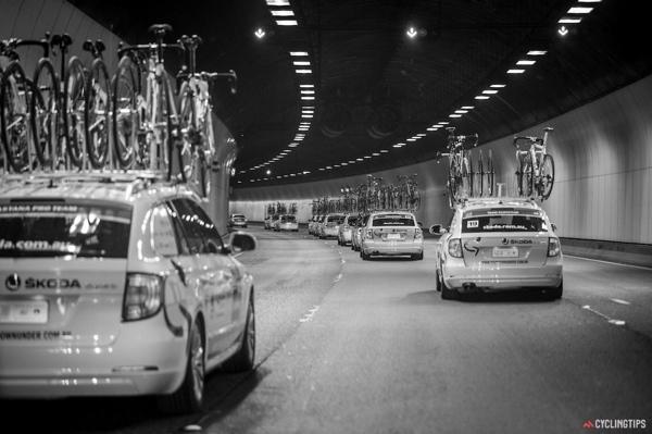 Amiraglie ciclismo al Tour Down Under 2014