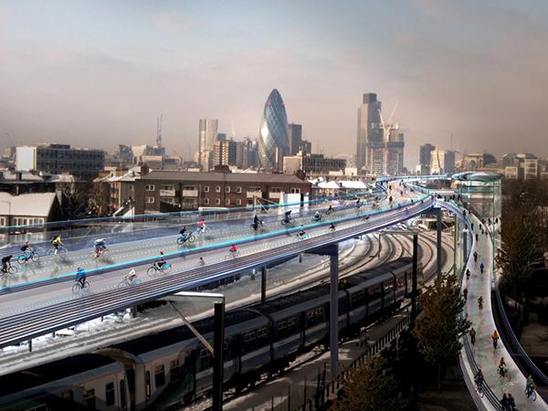Il progetto SkyCycle a Londra