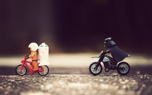 Lego Star Wars in bici