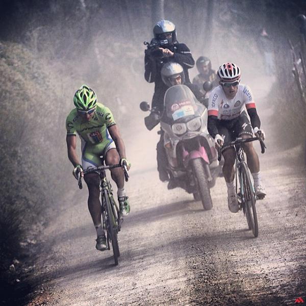 Peter Sagan e Michal Kwiatkowski alla Strade Bianche 2014