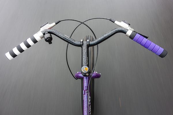 La strada da una bici