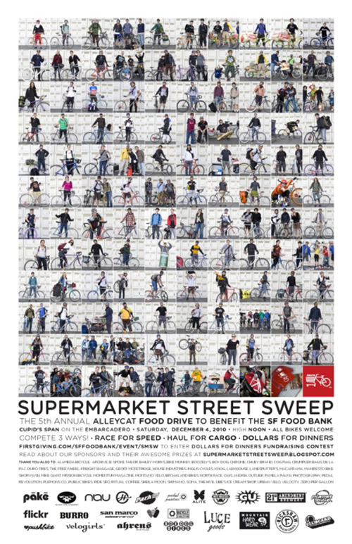 Locandina dell'alleycat Supermarket Street Sweep a San Francisco
