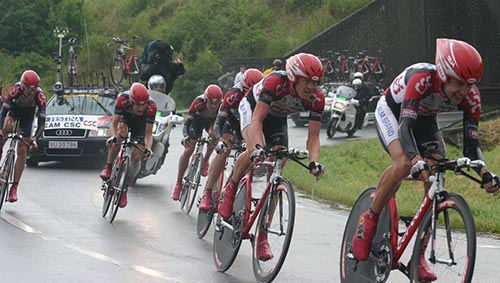Il Team CSC al Tour de France 2004
