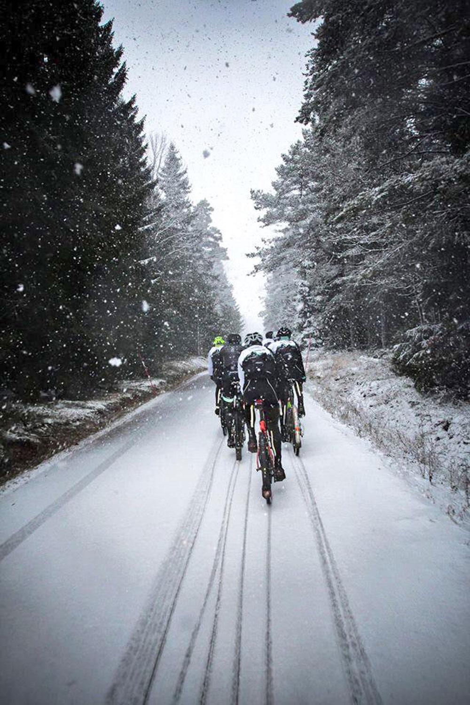 Il Team Tre Berg si allena sotto la neve