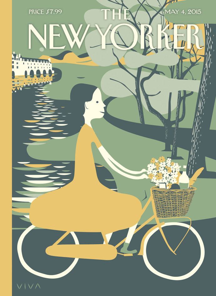 Copertina del New Yorker Golden Hour di Frank Viva