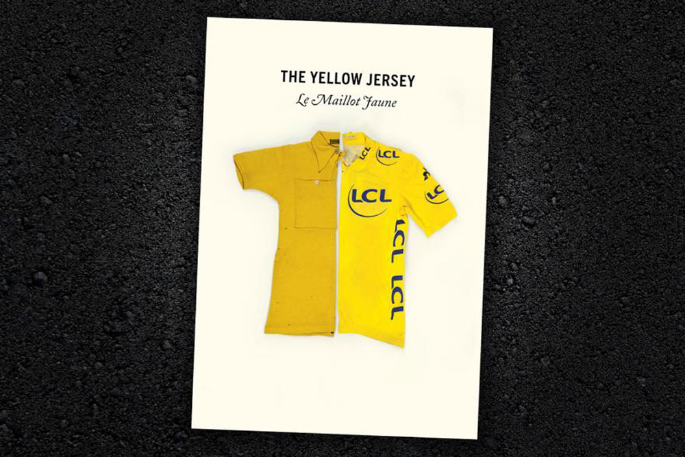La copertina del libro The Yellow Jersey di Peter Cossins