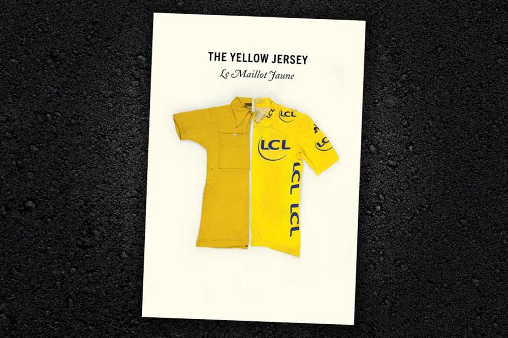 La copertina del libro The Yellow Jersey di Peter Cossins
