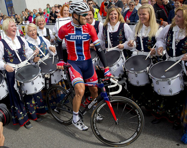 Thor Hushovd all'Artic Race of Norway 2013