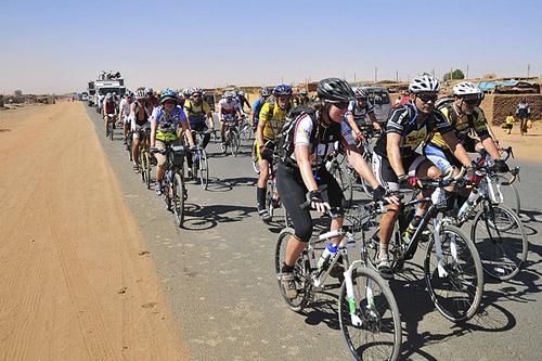 Ciclisti al Tour d'Afrique