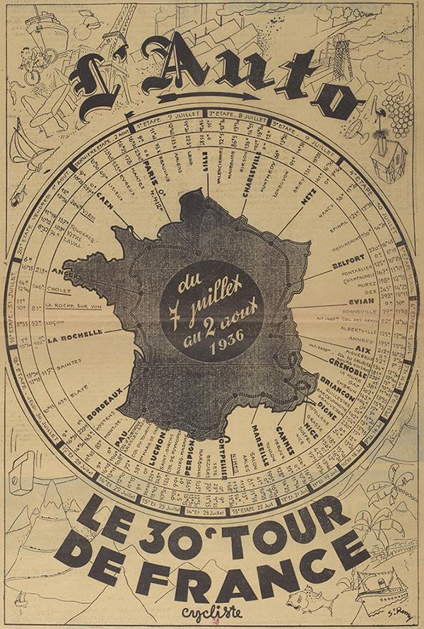 Poster Le 30° Tour de France