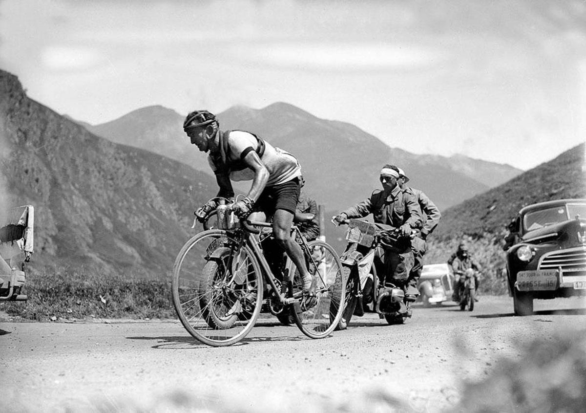 Jean Robic sul Tourmalet al Tour de france 1947