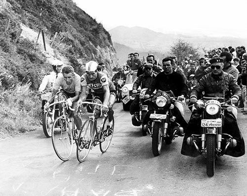 Raymond Poulidor e Jacques Anquetil al Tour 1964