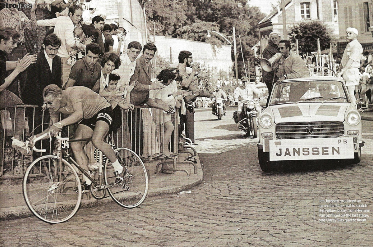 La cronometro di Jan Janssen al Tour 1968