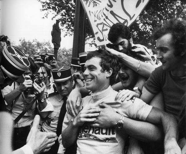 Bernard Hinault in maglia gialla al Tour 1981