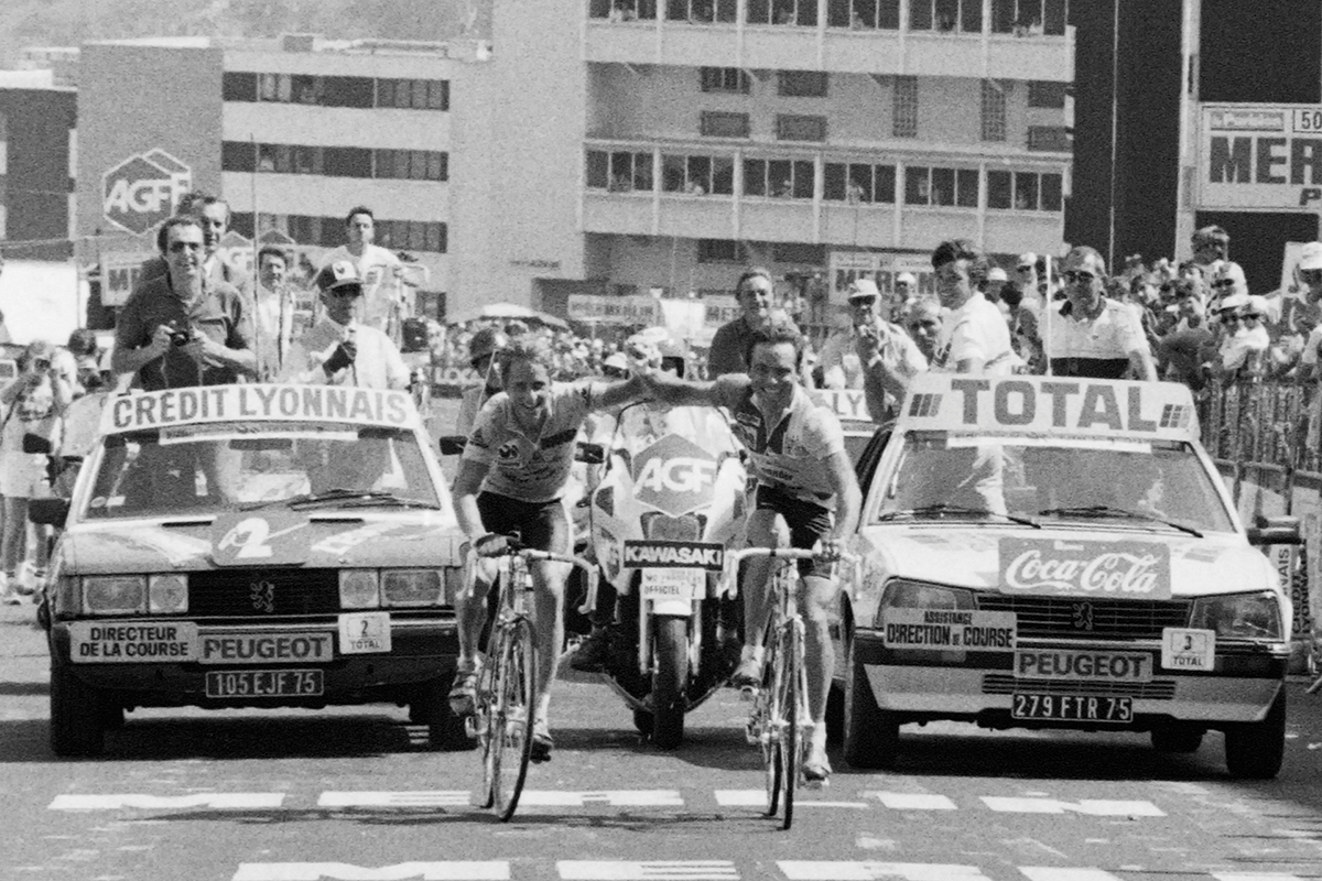Hinault e Lemond al Tour de France 1986