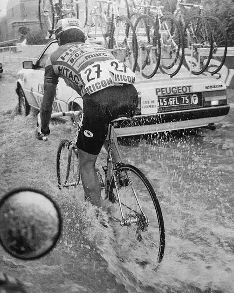 Stephan Morjean nella tappa Tarbes Blagnac al Tour 1987
