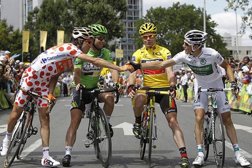 I vincitori delle maglie al Tour de France 2011