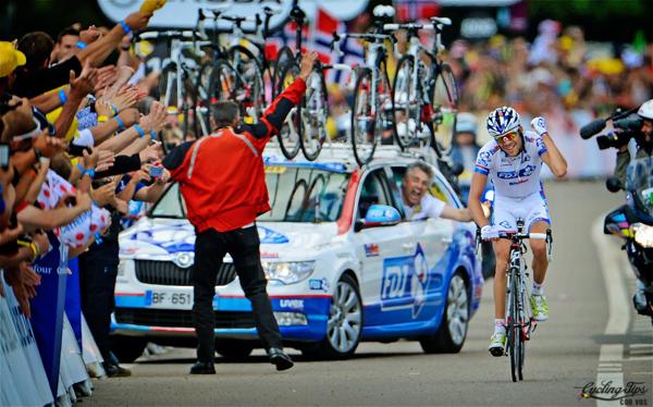 Thibaut Pinot vince una tappa al Tour 2012