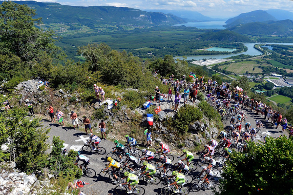 Il Col du Grand Colombier al Tour 2012