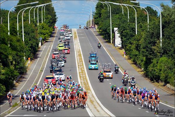 Il gruppo in Belgio al Tour 2012