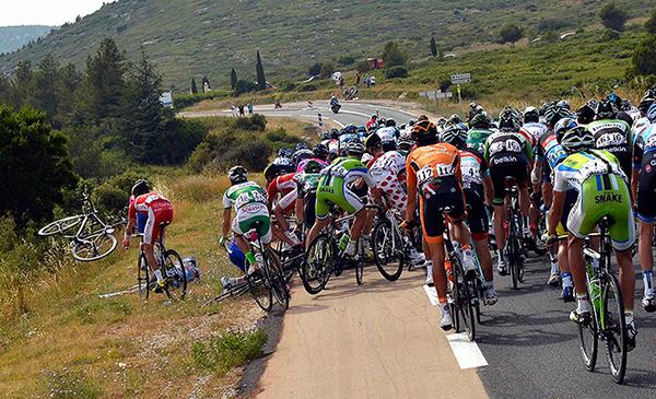 Una caduta al Tour de France