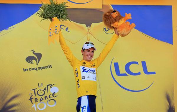 Daryl Impey in maglia gialla al Tour 2013