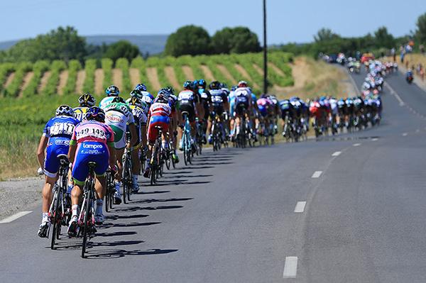 Il gruppo al Tour de France
