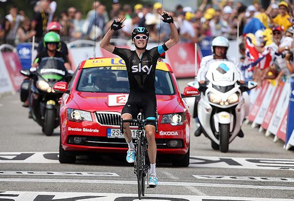 Chris Froome sui Pirenei al Tour 2013