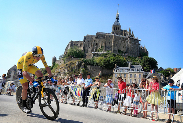 Chris Froome a cronometro al Tour 2013