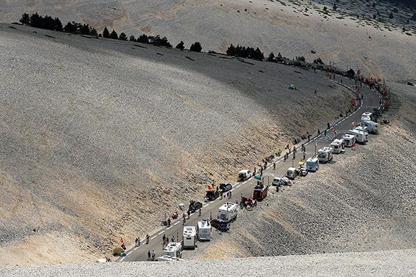 La pietraia del mont Ventoux al Tour 2013
