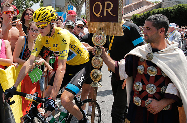 Chris Froome e un gallo-romano al Tour 2013