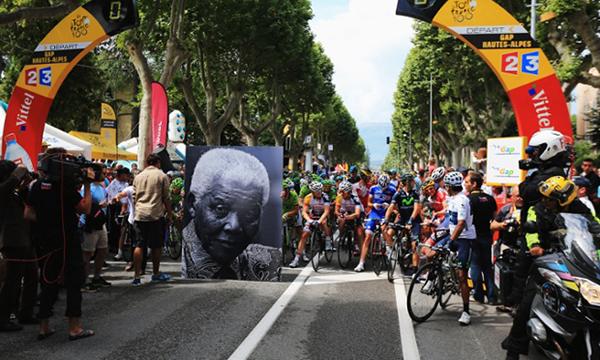La foto di Mandela al Tour 2013