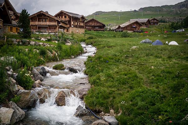 Campo base all'Alpe d'Huez
