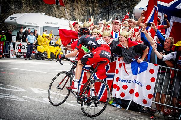 Tifosi norvegesi sull'Alpe d'Huez