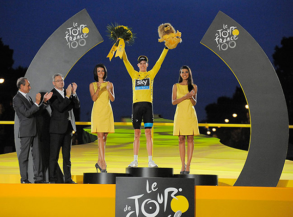 Chris Froome a Parigi al Tour 2013