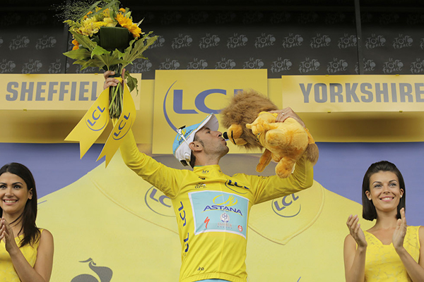 Nibali in giallo al Tour de France 2014