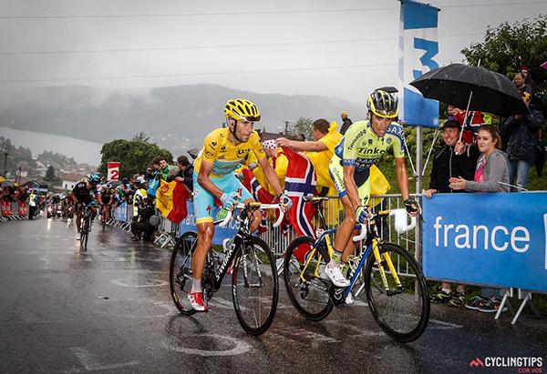 Nibali e Contador al Tour de France 2014