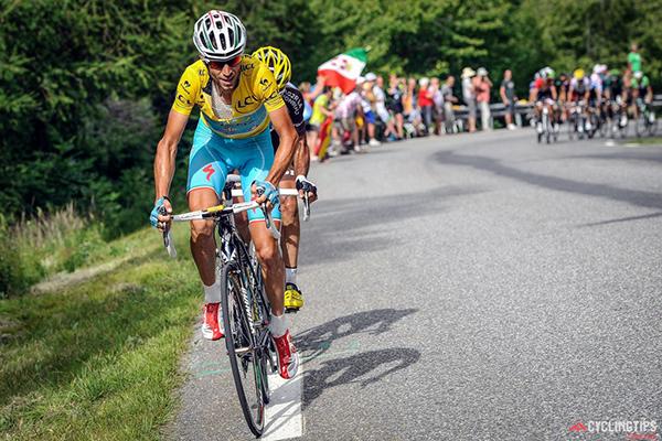 Vincenzo Nibali sulle Alpi al Tour 2014