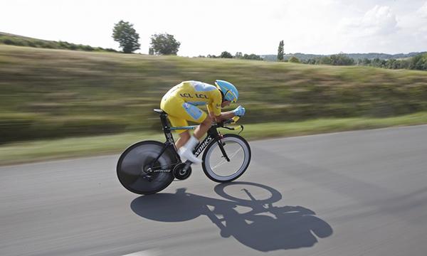 Vincenzo Nibali a cronometro al Tour 2014