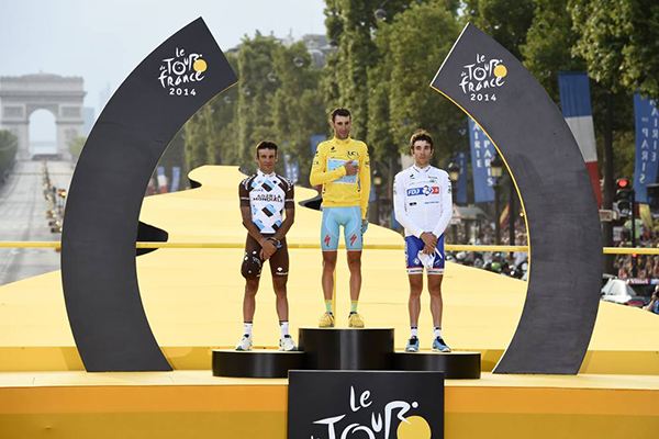 Il podio del Tour de France 2014