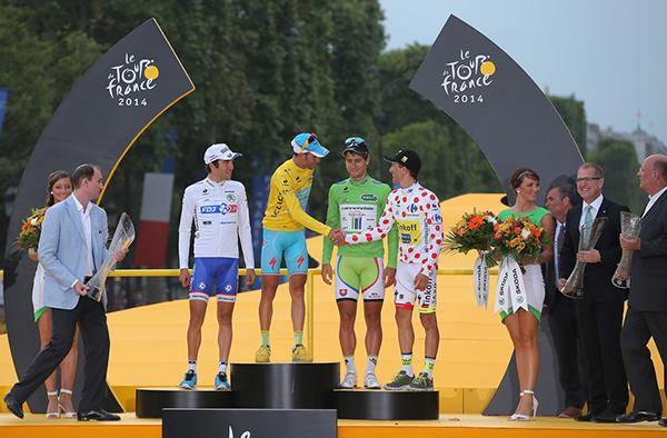 Nibali, Sagan, Majka e Pinot sul podio al Tour 2014