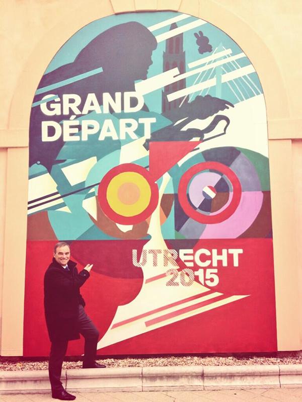 Bernard Hinault alla presentazione del Grand Départ 2015